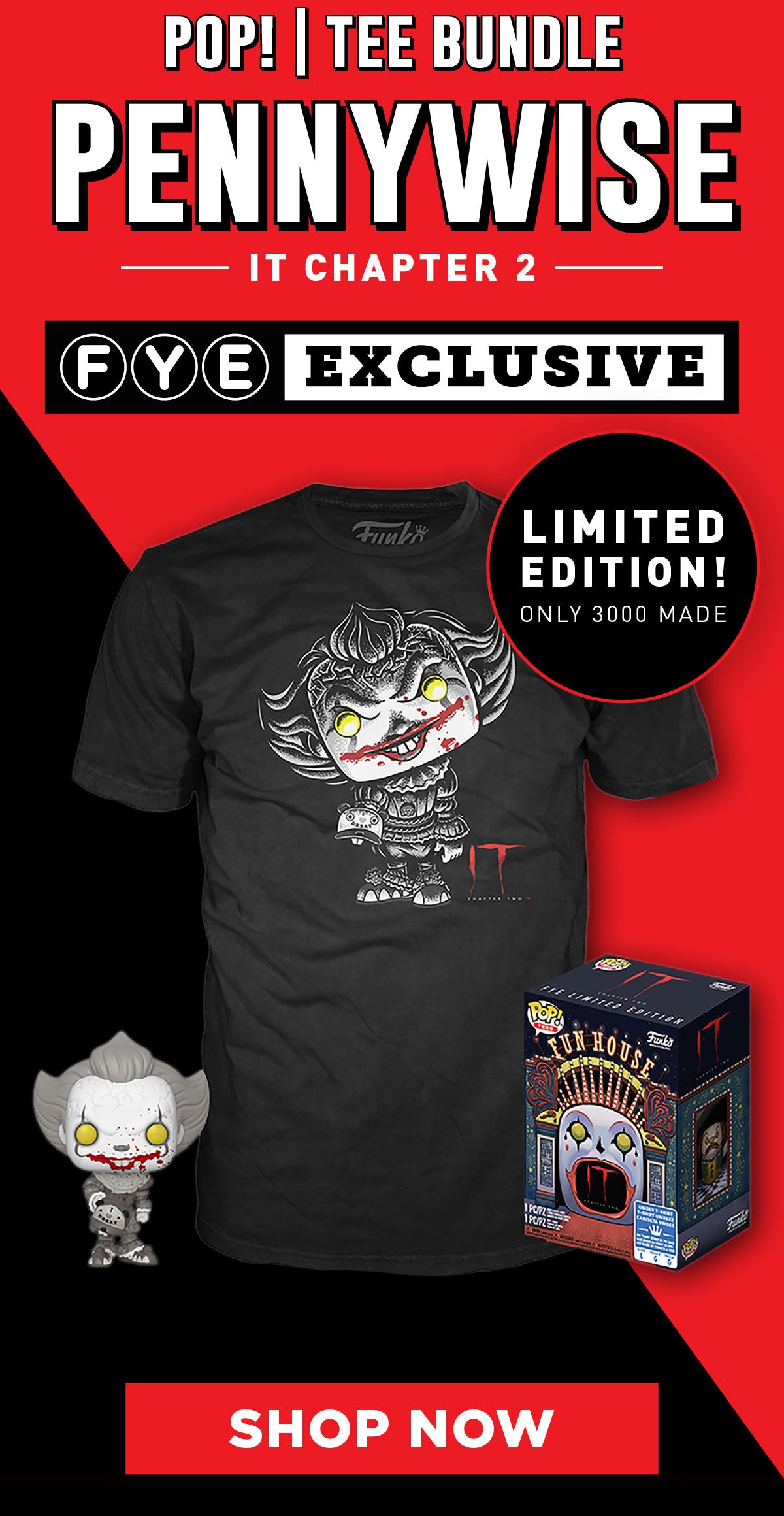Black and White Pennywise Pop + Tee Combo
