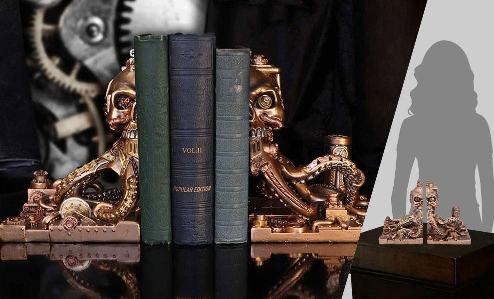 Octonium Mechanical Octopus Bookends by Nemesis Now