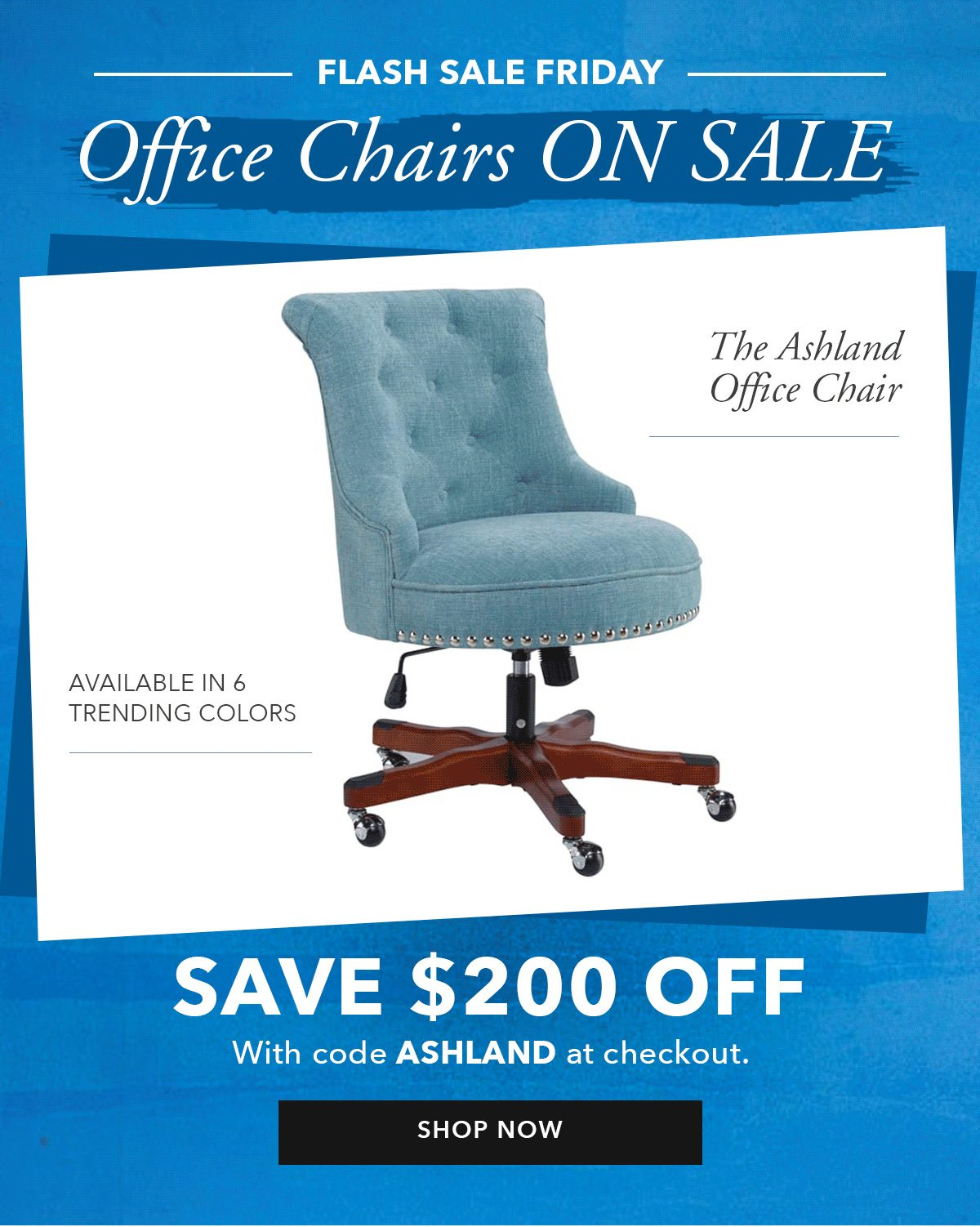 Office Chairs ON SALE. Save $200 off   SHOP NOW