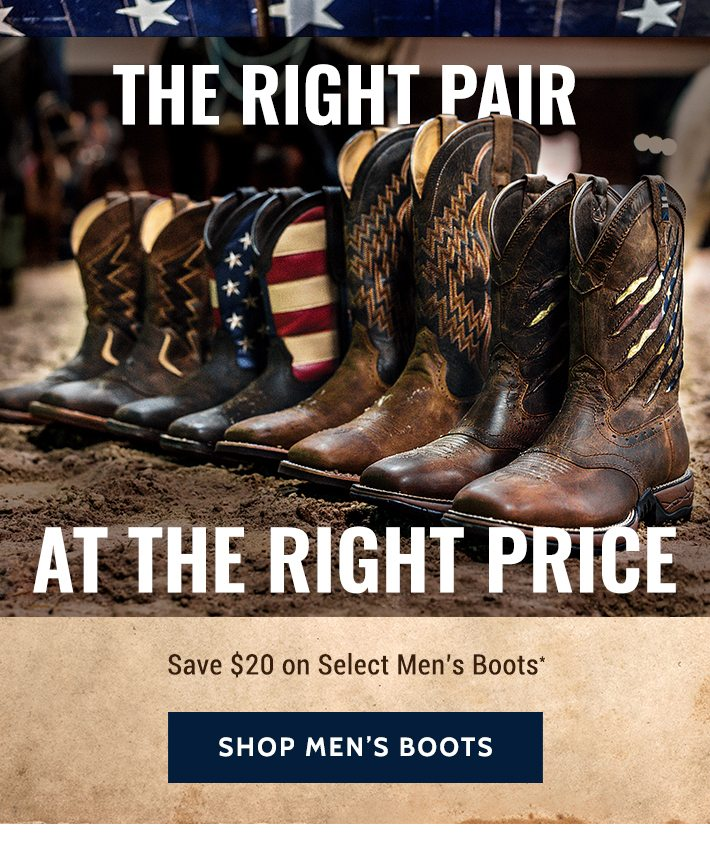 df6f0385479 $20 Off Select Men's Boots - Boot Barn Email Archive