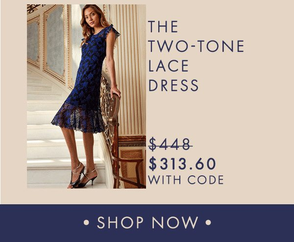 The Two-Tone Lace Dress