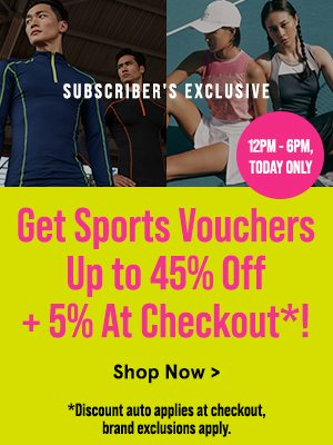 Get Sports Vouchers Up to 45% Off + 5% At Checkout!