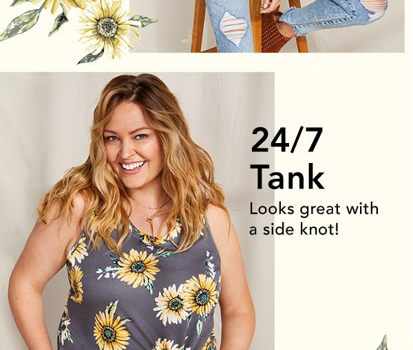 24/7 tank: looks great with a side knot!