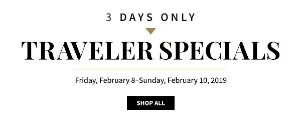 Traveler Specials - Shop All