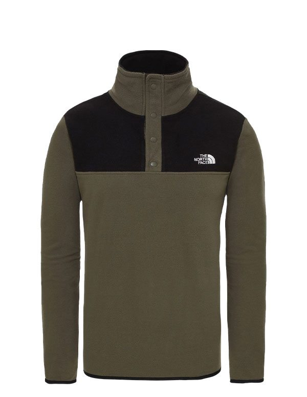 The North Face men's tka glacier snap neck fleece