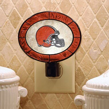 Cleveland Browns Historic Logo Hand-Painted Glass Nightlight
