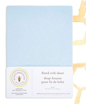 Baby Solid Organic Cotton BEESNUG® Fitted Crib Sheet