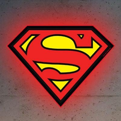 Superman LED Logo Light LARGE Brandlite