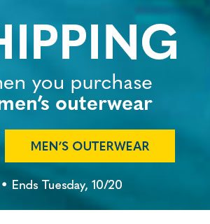 Free Shipping with Men's Outerwear