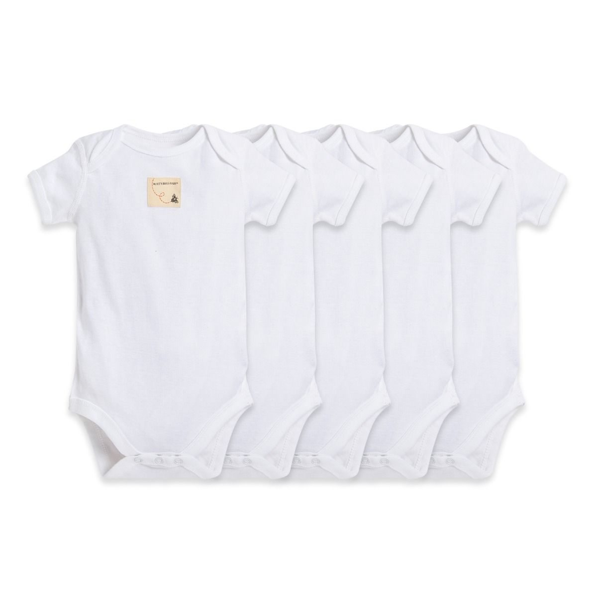 Bee Essentials Organic Short Sleeve Baby Bodysuit 5 Pack