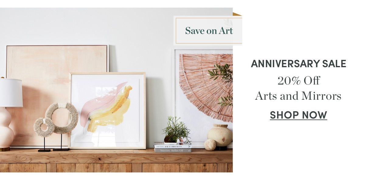 20 percent off Arts and Mirrors