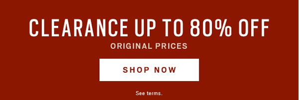 Clearance up to 80% off - Shop Now