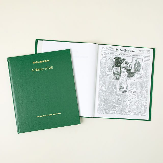 New York Times Personalized Golf History Book