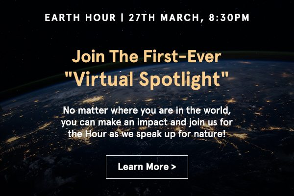 Join The First-Ever Virtual Spotlight! No matter where you are in the world, you can make an impact and join us for the Hour as we speak up for nature!