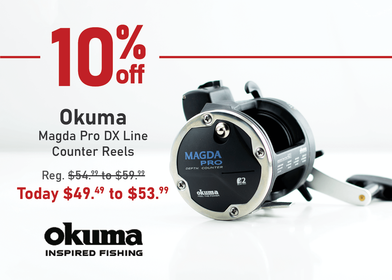 Take 10% off the Okuma Magda Pro DX Line Counter Reel