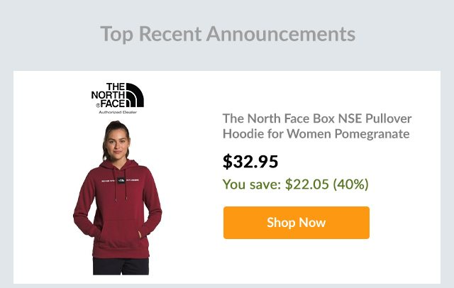 The North Face Box NSE Pullover Hoodie for Women Pomegranate