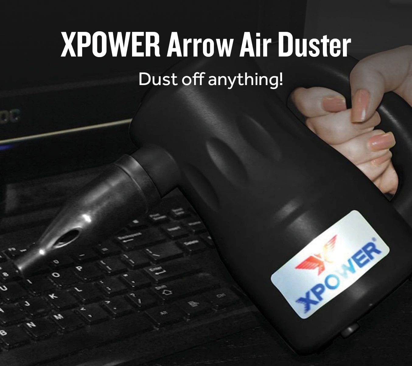 XPOWER Arrow Pro A-2 Multi-Use Electronic Air Duster - Black