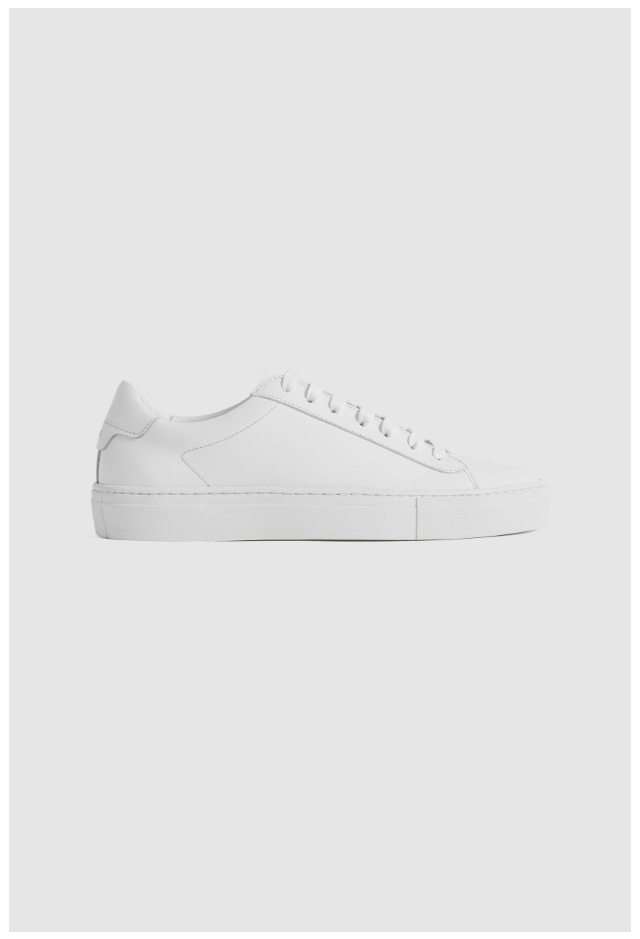 Finley White Leather Trainers