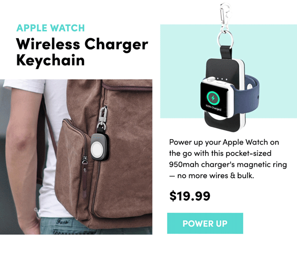 Apple Watch Wireless Keychain Charger | Power Up