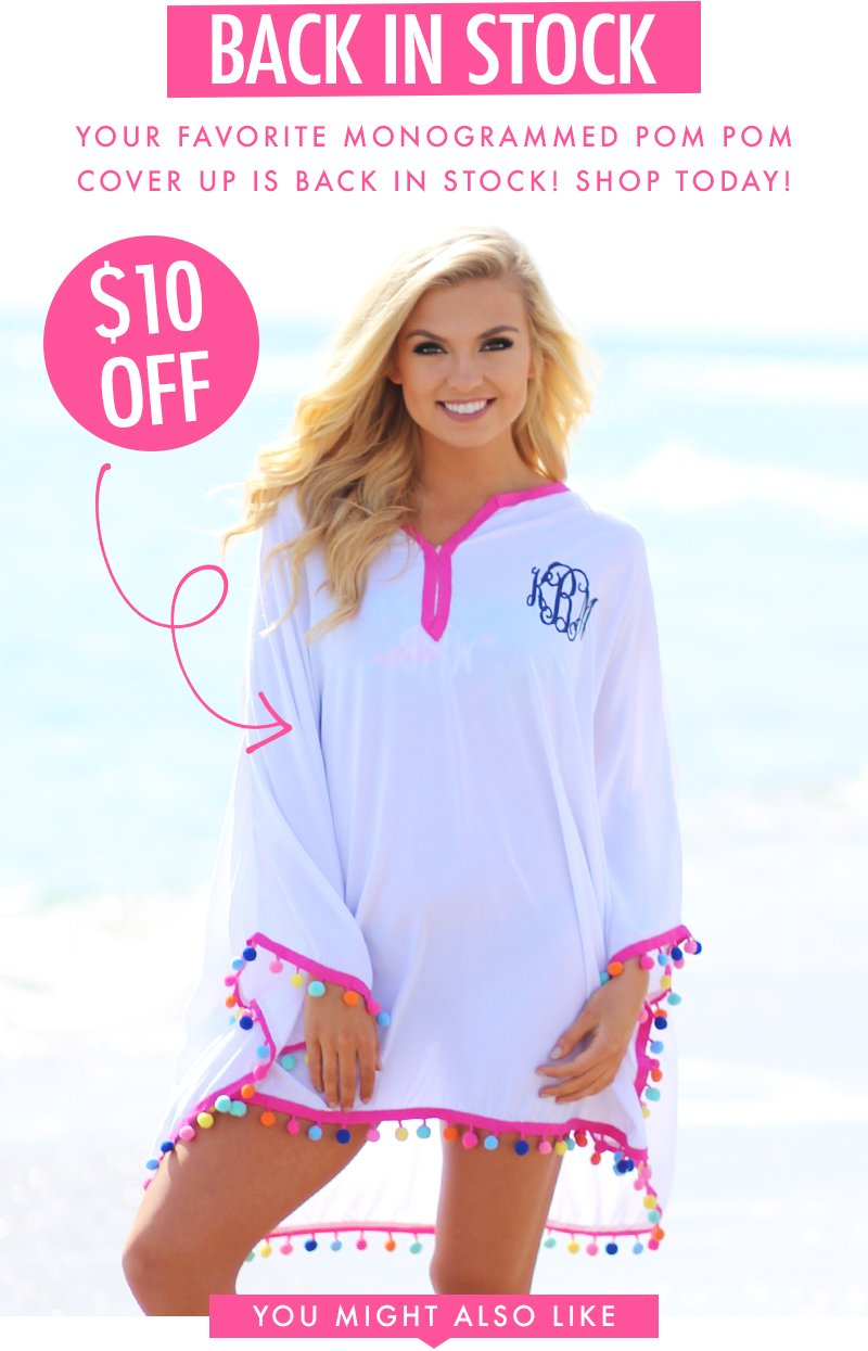 4b74848886 RESTOCK ALERT! Pom Pom Cover Ups are BACK! - Marleylilly Email Archive