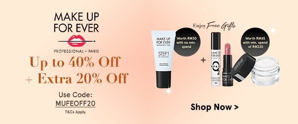 Make Up For Ever - Up to 40% Off + Extra 20% Off