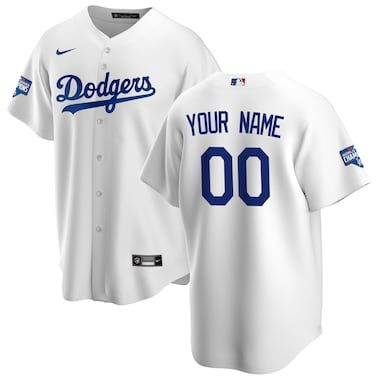 Los Angeles Dodgers Nike 2020 World Series Champions Home Custom Replica Jersey - White