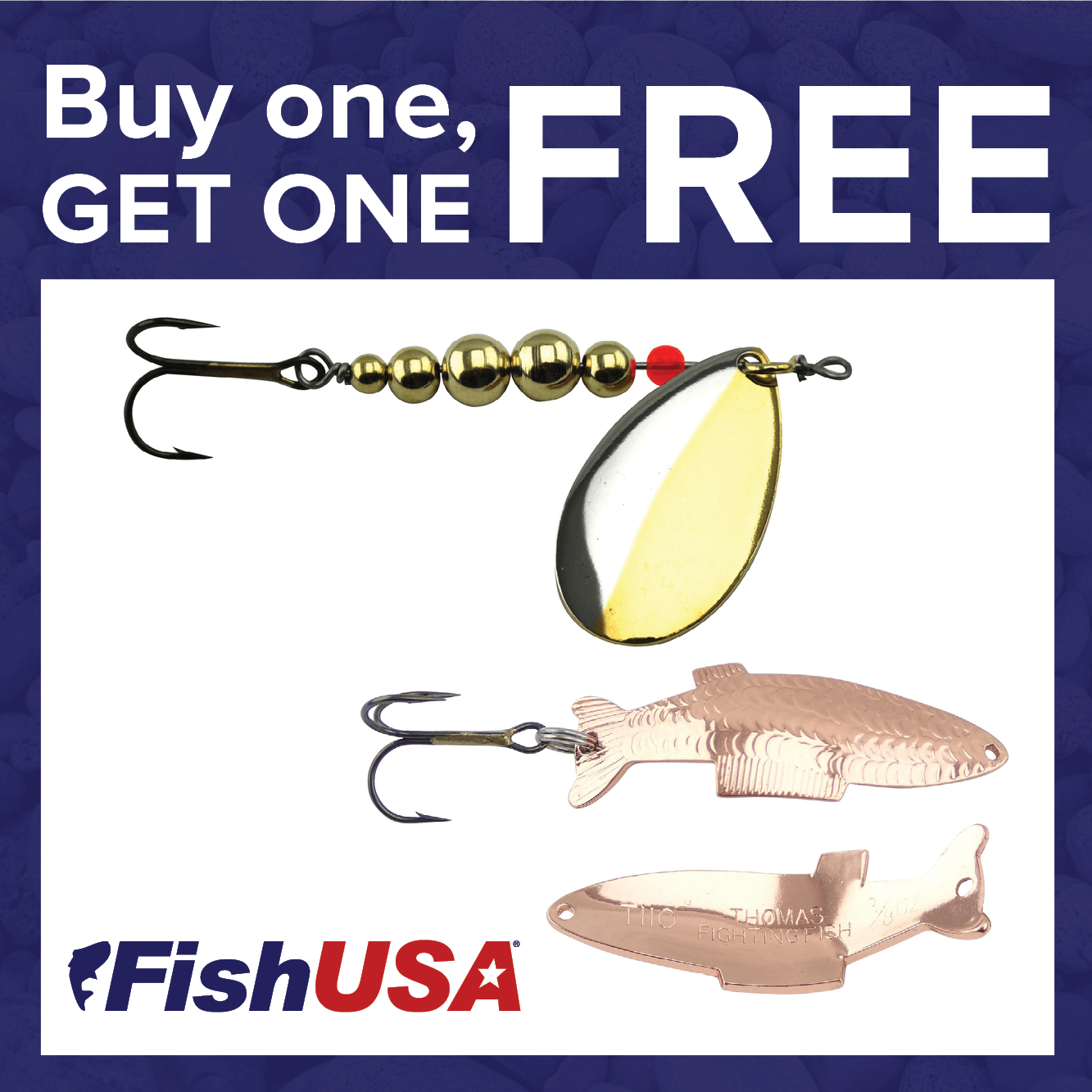 Buy 1, Get 1 FREE on Thomas Lures!