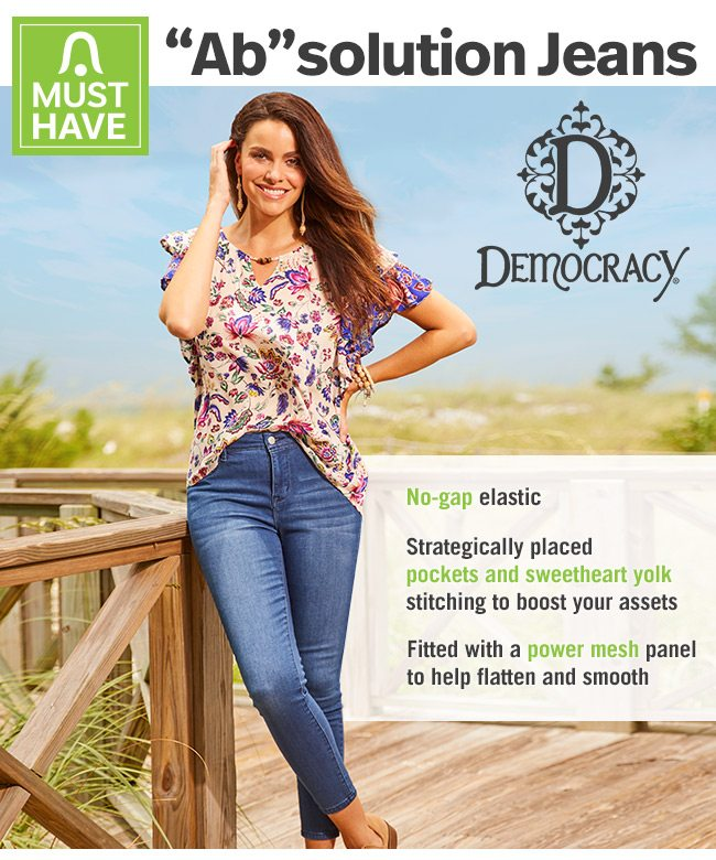 Shop Democracy ''Ab''solution Jeans