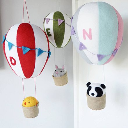 Personalised Hot Air Balloon Mobile