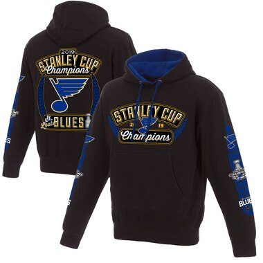 St. Louis Blues Fanatics Branded 2019 Stanley Cup Champions Pullover Hoodie - Navy