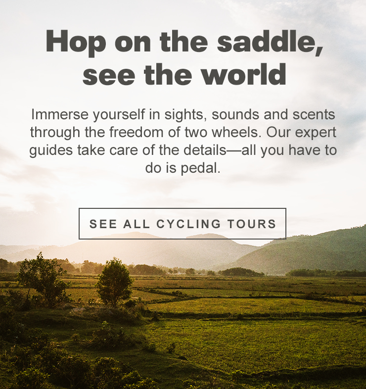 Hop on the saddle, see the world