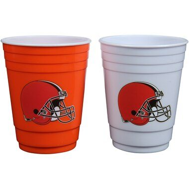 Cleveland Browns Two-Pack Home And Away Plastic Cup