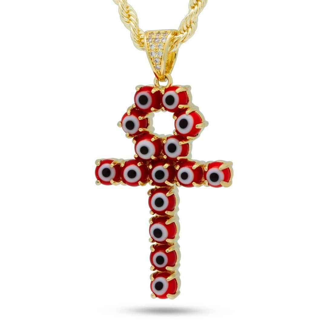 Image of The Red Evil Eye Ankh Cross