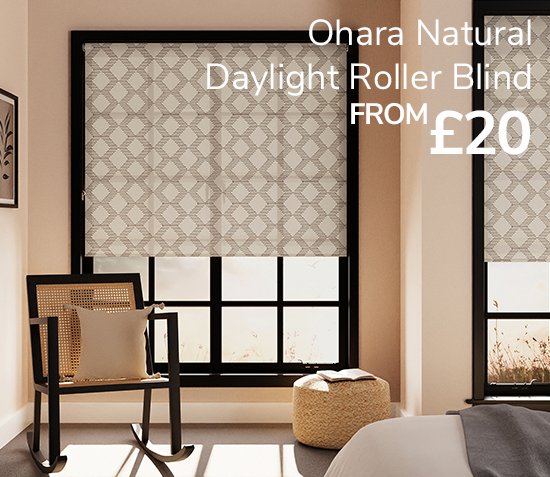 Ohara natural daylight roller blind from £20