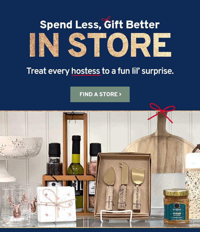 Need a hostess gift? - Marshalls Email Archive