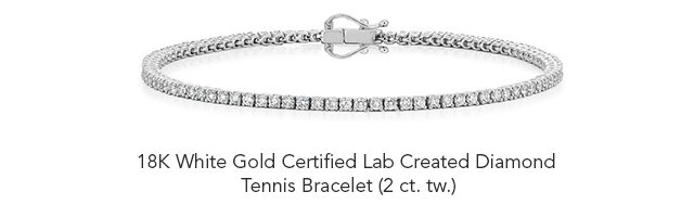 18K White Gold Certified Lab Created Diamond Tennis Bracelet (2 ct. tw.)