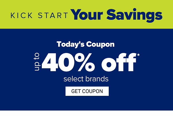 Online Exclusive. Kick start your savings - Up to 50% off select brands. Get Coupon.
