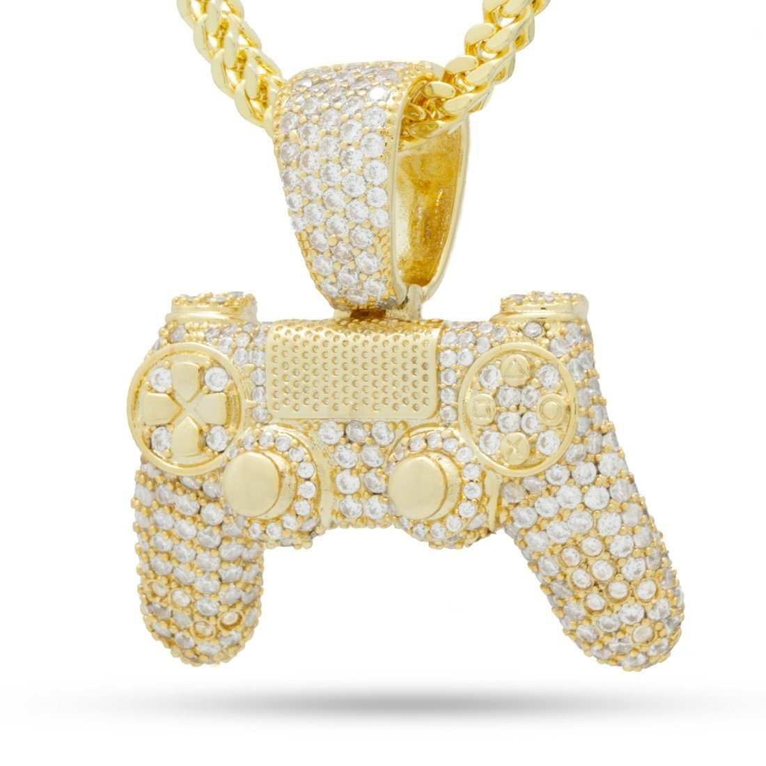 Image of Inspired by PlayStation - The Iced Out Gold Classic Controller Necklace
