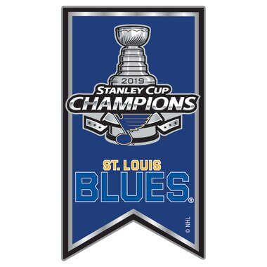 St. Louis Blues 2019 Stanley Cup Champions Team Banner Pin