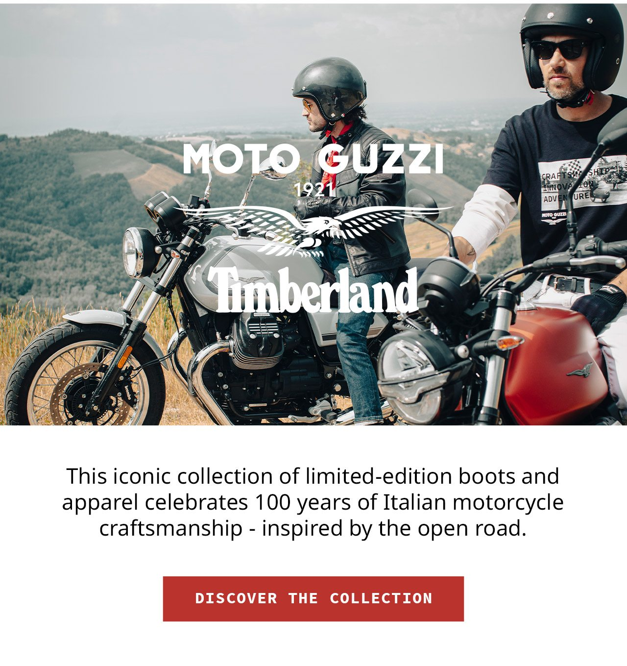 This iconic collection of limited-edition boots and apparel celebrates 100 years of Italian motorcycle craftsmanship - inspired by the open road. DISCOVER THE COLLECTION