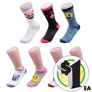 Womens' Emoji Print Socks