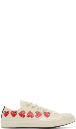Comme des Garçons Play - Off-White Converse Edition Multiple Heart Chuck 70 Low Sneakers