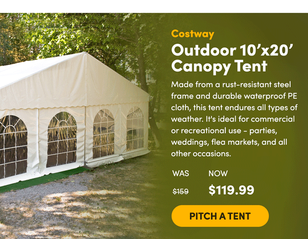 Costway Canopy Tent | Pitch a Tent