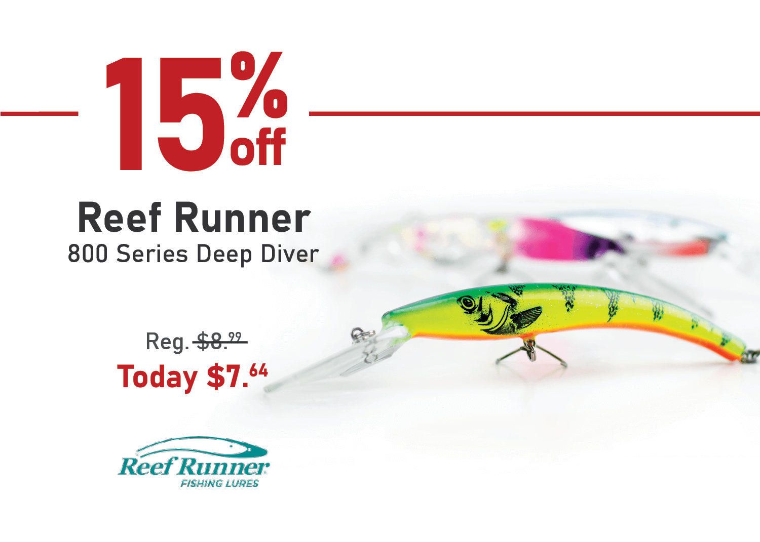 Save 15% on the Reef Runner 800 Series Deep Diver