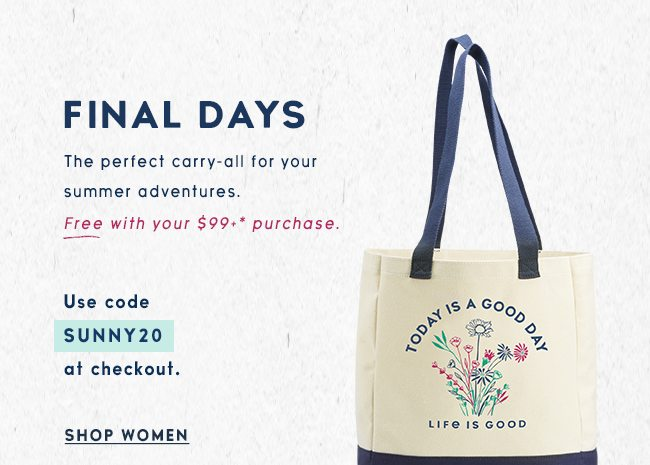 Get a Free Tote when you spend $99 - Shop Women