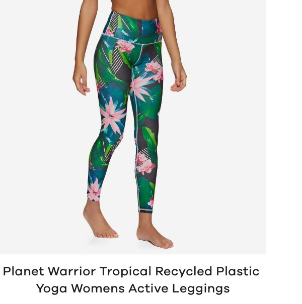 Planet Warrior Tropical Recycled Plastic Yoga Womens Active Leggings
