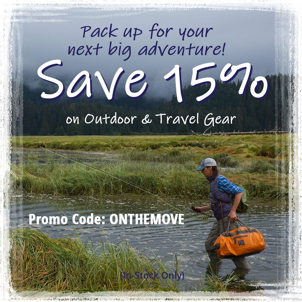 Save 15% on Outdoor & Travel Gear