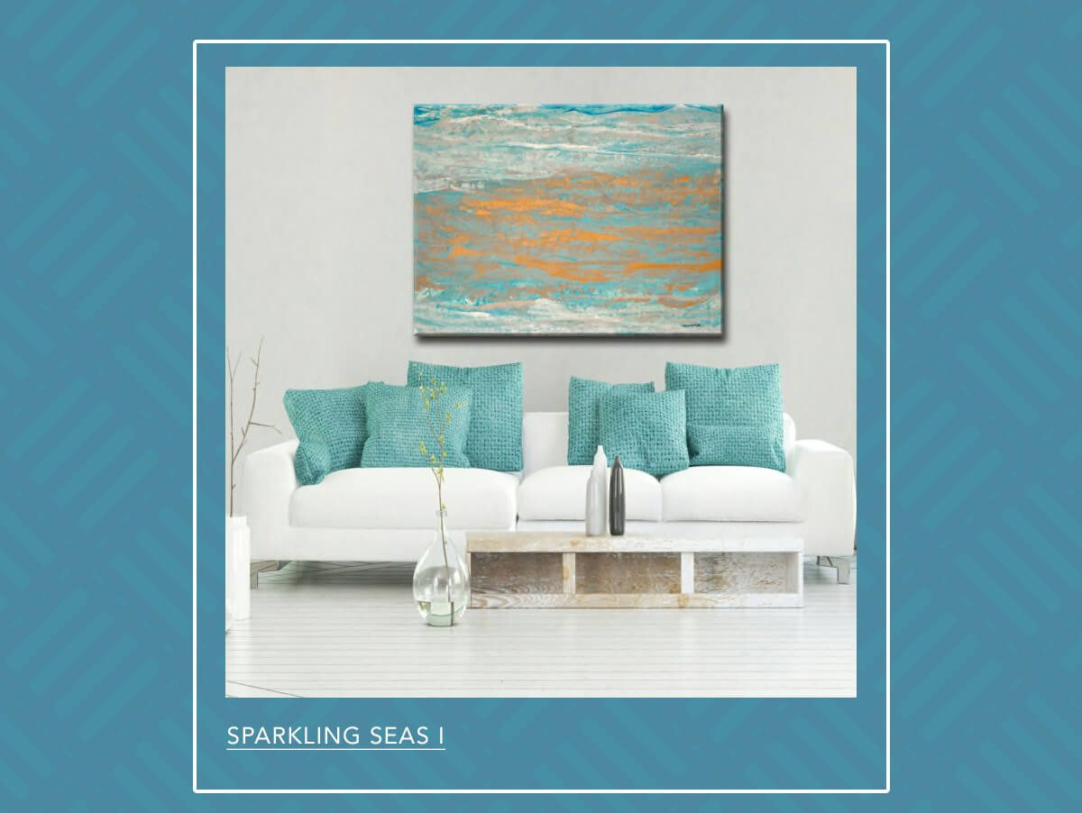 Sparkling Seas I Wrapped Canvas Wall Art   SHOP NOW