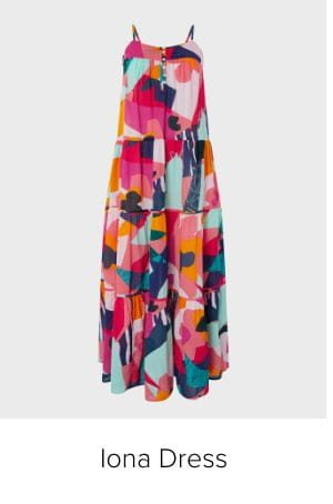 IONA COLOURFUL MAXI DRESS IN ORGANIC COTTON