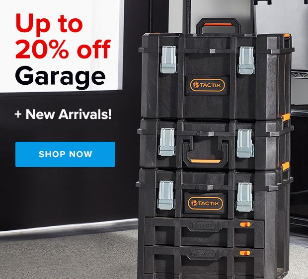 Up to 20% off Garage + New Arrivals ›
